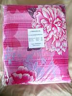 """Постельное белье полуторное жатка """"Тирасполь"""" с розовыми цветами"""