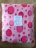 Полуторное постельное белье жатка Тирасполь розовое в горошек