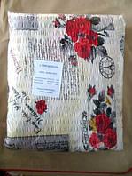 Постельное белье полуторное жатка Тирасполь - на светлом цветы