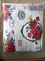 Постельное белье полуторное жатка Тирасполь на белом цветы