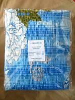 Постельное белье полуторное жатка Тирасполь - на голубом белые цветы