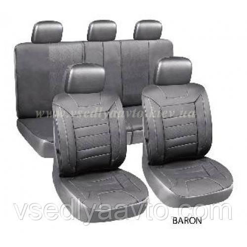Чехлы на сиденья универсальные AG-28709 BARON black+5подг (11ед)