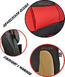 Чехлы на сиденья универсальные MILEX/Gracja 27038/7 черно-красные, фото 2
