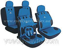 Чехлы на сиденья универсальные MILEX/Mambo AG-24017/3 полн к-т/2пер+2задн+5подг+опл+2накл.ремн.без/син