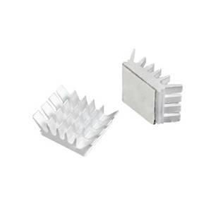 10x Радиатор алюминиевый мини 14х13х6мм, клейкий