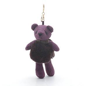 Брелок Медведь в жилетке фиолетовый