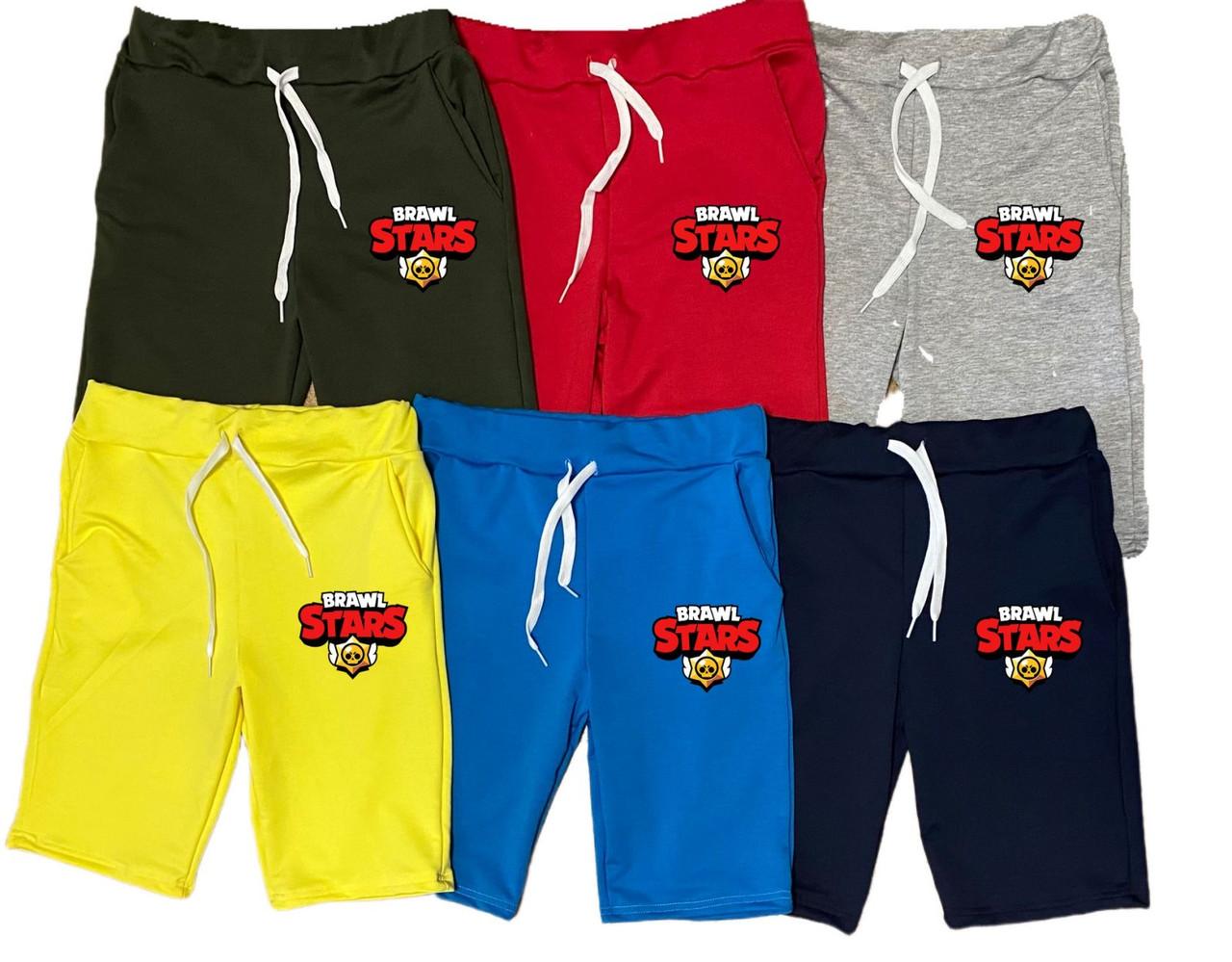 Детские шорты для мальчика с карманами Бравл Старс, 2-16 лет