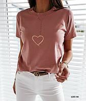 Женская  футболка с принтом  1295 НК