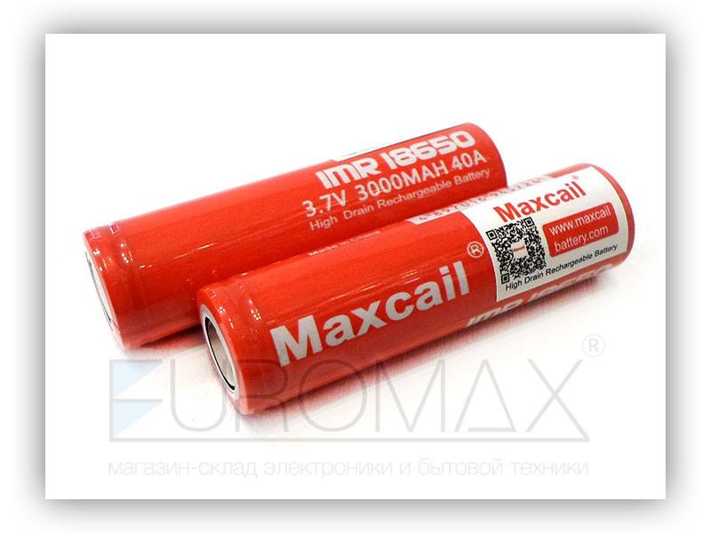 Аккумулятор 18650 3000мАч 3,7В Li-Ion Maxcail 500шт 9626