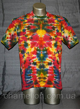 Ексклюзивна футболка Тай-Дай різнобарвна  (Эксклюзивная футболка Тай-Дай разноцветная)