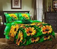 Комплект постельного белья Желтые ромашки 3D