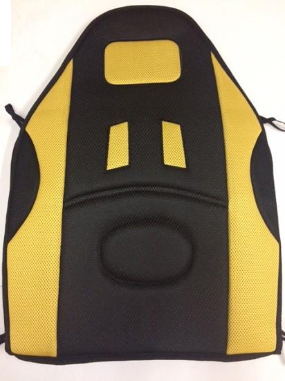 Накидки сидения  CUHION2  Черн/желтая сетка  (высокая)     (838)