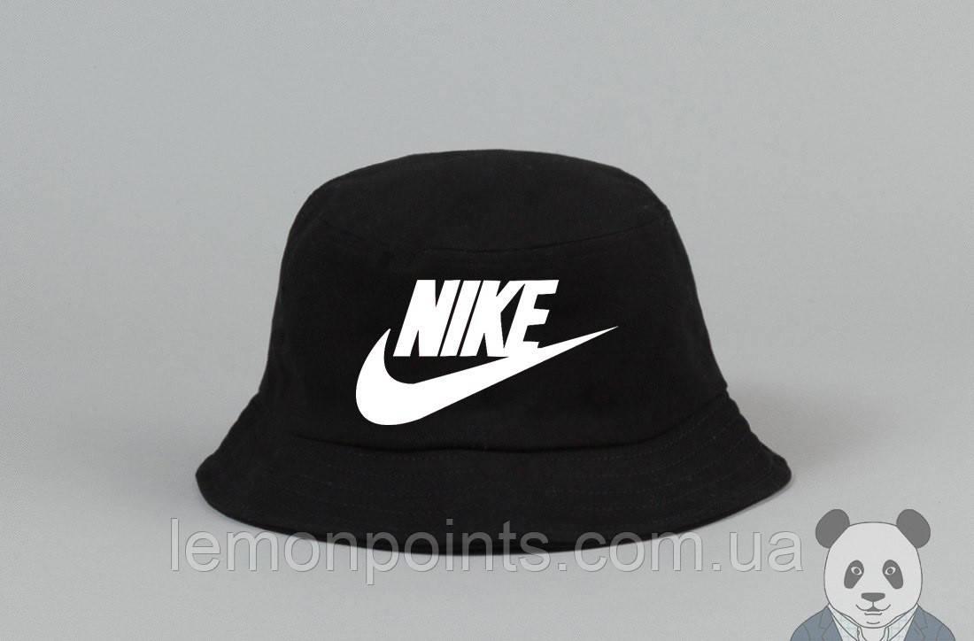 Панамка Nike   летняя хлопковая черная
