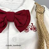 Комплект рубашка, штаны, подтяжки, бабочка для мальчика Синий Hippil Турция 68 (р), фото 5