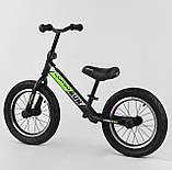 """Двухколесный беговел велобег CORSO 6247 для детей с надувными колесами 14"""" и регулировкой сиденья, фото 2"""