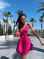 Жіноче Літнє Плаття з шовку з відкритою спиною Рожеве S