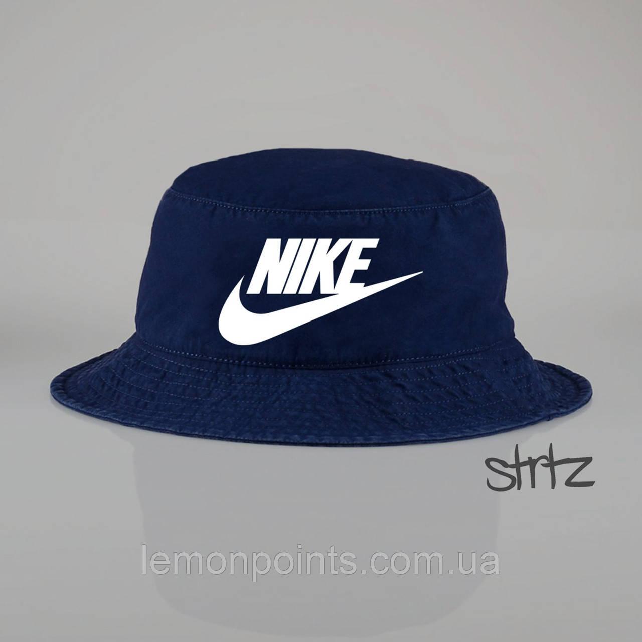 Панамка Nike   летняя хлопковая синяя