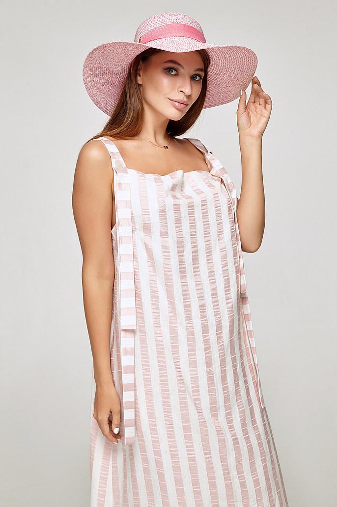 Шляпа с полями розовая  MKSHА-256