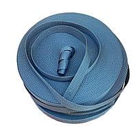 Стрічка, тасьма для сумок, рюкзаків 20 мм - 50 м стропа ремінна поліпропіленова (сіра)