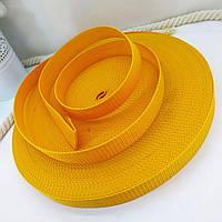 Стрічка, тісьма для сумок, рюкзаків 20 мм - 50 м стропа ремінна поліпропіленова (жовта)