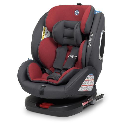 Автокрісло EL CAMINO ME 1079 RED для дітей вагою від 9 до 36 кг, з системою кріплення Isofixт, червоне