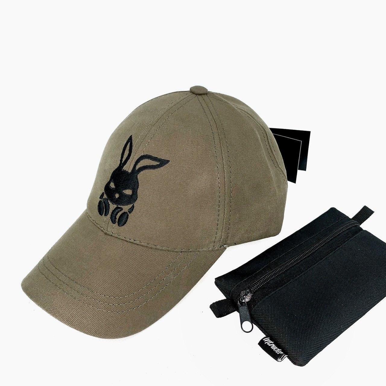Кепка мужская Intruder хаки логотип вышит универсальный размер + Фирменный подарок