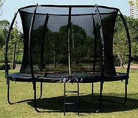 Детский батут с защитной сеткой и лестницей в комплекте Profi MS 2921-1-LUX (диаметр 183 см, высота 150 см)