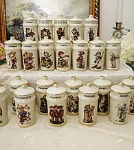 Набор баночек для специй с деревянной полкой, Crestley Collection от JOHANNES FOUBERT, 21 штука