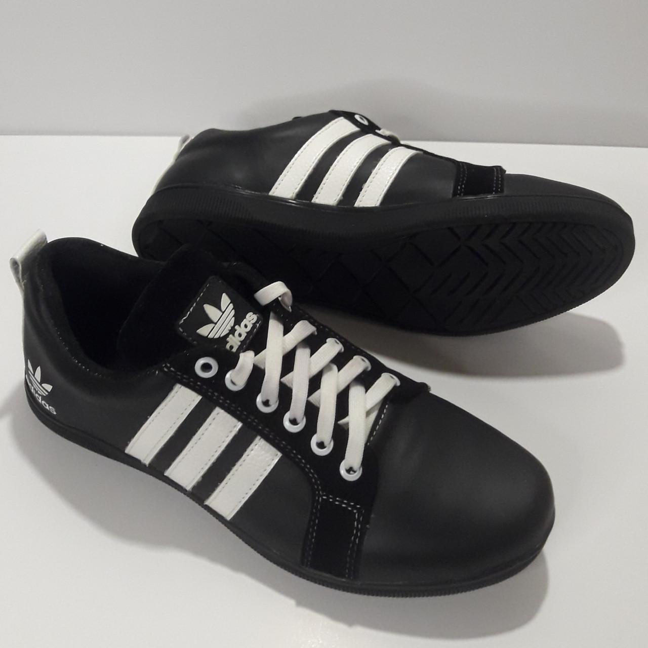 Кроссовки Adidas р.40 кожа Харьков чёрные