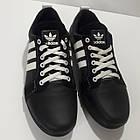 Кроссовки Adidas р.40 кожа Харьков чёрные, фото 6