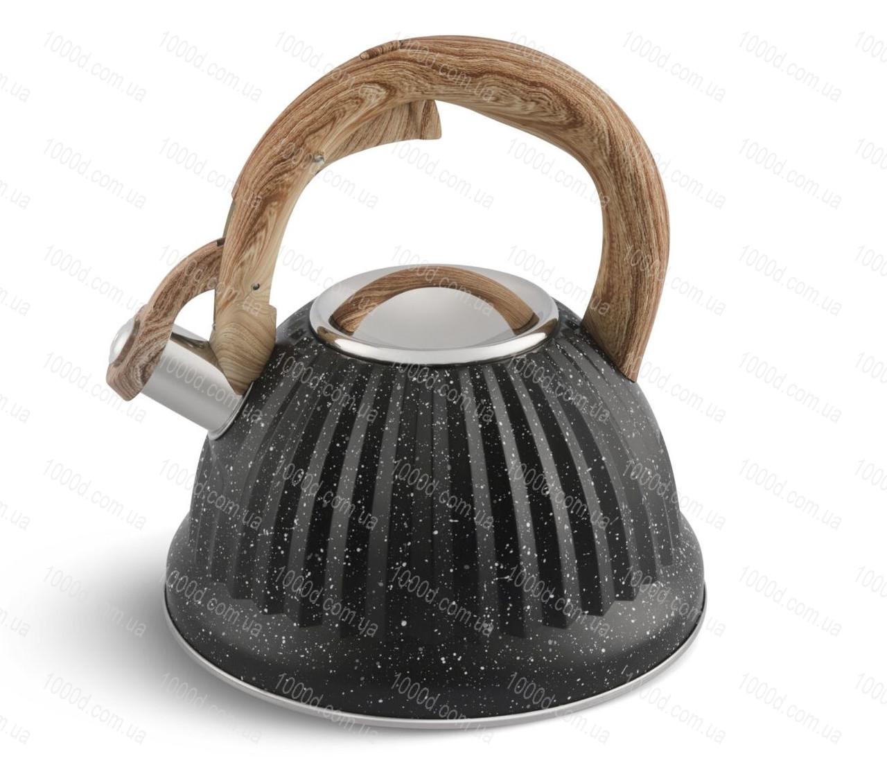 Чайник з нержавіючої сталі зі свистком Edenberg 3.0 л Чорний (EB-8810B)