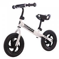 Прогулочный беговел, велобег для детей BALANCE TILLY 12 Tornado T-21255/1 White, цвет белый