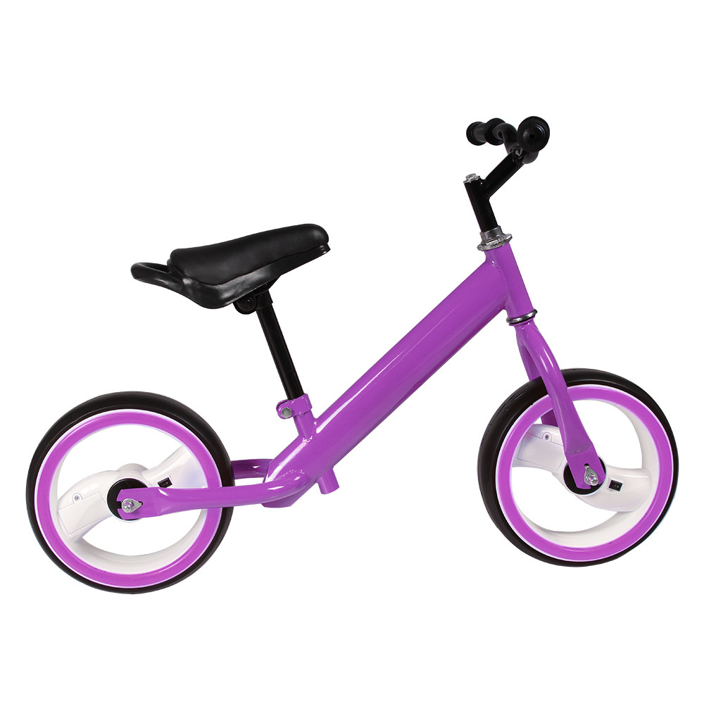 Детский беговел с регулировкой сиденья и руля, светятся колеса TILLY 12 T-212515 Purple EVA, цвет фиолетовый