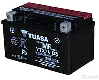 Мото аккумулятор YUASA YTX7A-BS