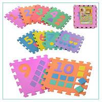 """Ігровий килимок мозаїка """"Цифри"""" M 0375 (10 елементів)"""