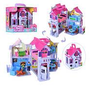 Двухэтажный игрушечный раскладной домик с фигурками и мебелью PL519-0801 (F611), фото 1