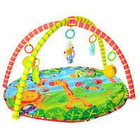 Ігровий килимок круглої форми для малюків 518-17 з підвісними іграшками