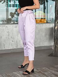 Жіночі батал брюки вільного крою коттон середня посадка на літо