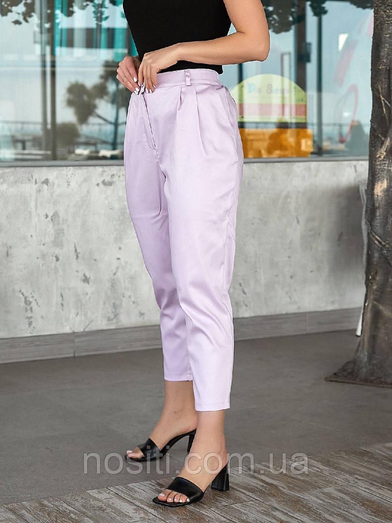 Женские батал брюки свободного покроя коттон средняя посадка на лето