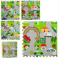 Детский коврик-мат для малышей 5712, с антискользящим покрытием (4 элемента в упаковке)