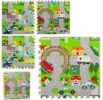 Дитячий килимок-мат для малюків 5712, з антиковзаючим покриттям (4 елемента в упаковці)