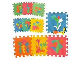 """Розвиваючий підлоговий килимок мозаїка """"Рослини"""" M 0386"""