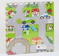 """Килимок-пазл для малюків """"Місто"""" EVA З 36568, з масажним ефектом (4 елемента в упаковці)"""