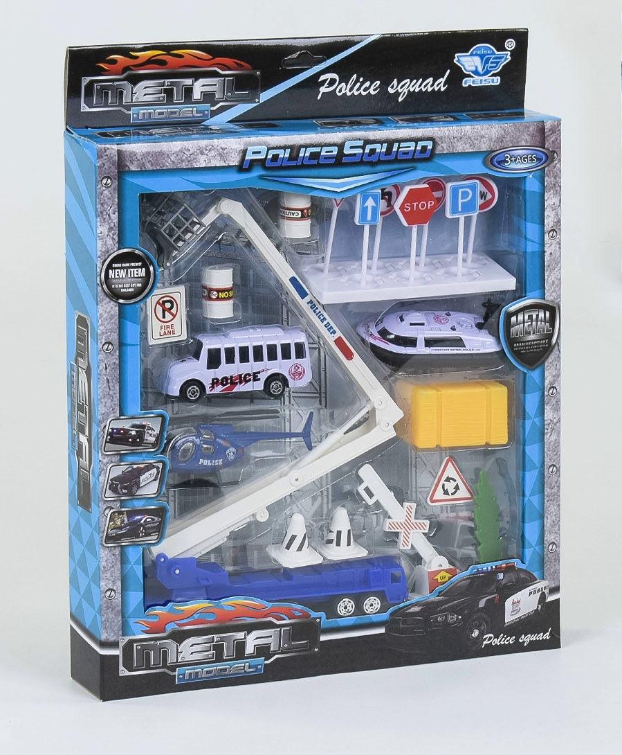 """Ігровий набір спецтехніки """"Поліція"""" JP 6203 (2 види)"""