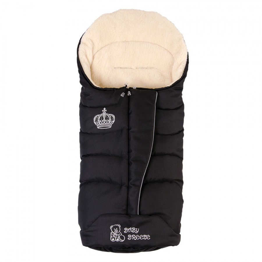 Конверт на овечої вовни Baby Breeze 0358 (чорний)