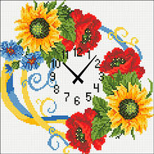 АГ-002. Годинник Україна. Алмазна мозаїка 30х30см