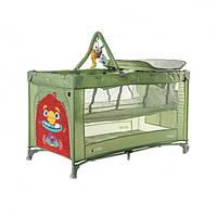 Дитяче ліжко манеж для граючого малюка CARRELLO Molto CRL-11604 Cameo Green з другим дном