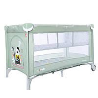 Дитячий манеж-ліжко CARRELLO Piccolo+ CRL-9201/2 Mint Green для граючого малюка з другим дном