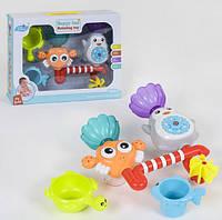 Іграшка Водоспад на присоску для веселого купання малюків YS 671, краб з пінгвіном