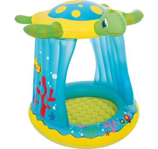 Ігровий надувний центр для дітей з дахом Bestway 52219 Черепашка (розмір 109-96-104 см)